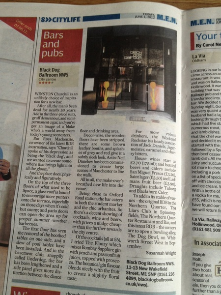 A very worthy 4*  @CityLifeManc @BlackDogNWS @susannahwright The noise on the terrace when it&#039;s busy is horrific. #roof
