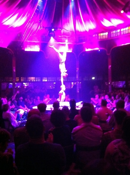 Absinthe in Spiegeltent @ Caesars: the most elegant, awe-inspiring main-a-main routine I've ever scene