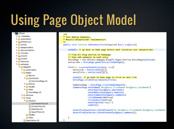 Using the Page Object Model