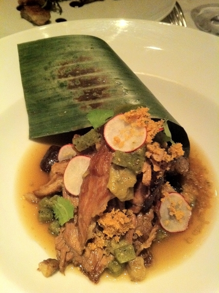 Had 1 of my fave dishes on Topolo menu: Kilgus goat barbacoa, heirloom ayocotes, salsa verde jewels, smkd marrow
