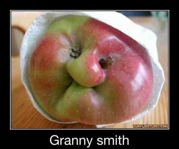 Luckily my apple didn't look like my grandmother
