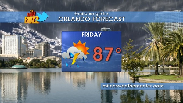 Here&#039;s TOMORROW&#039;s forecast for #orlando Be sure to add @mitchsweather for simple weather forecasts 2x/day @dailybuzztv