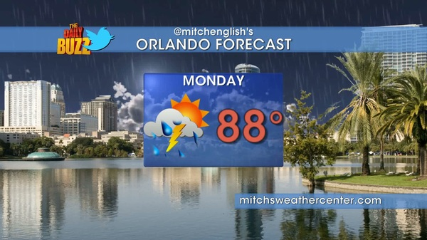 Here's TOMORROW's forecast for #orlando Be sure to add @mitchsweather for simple weather forecasts 2x/day @dailybuzztv
