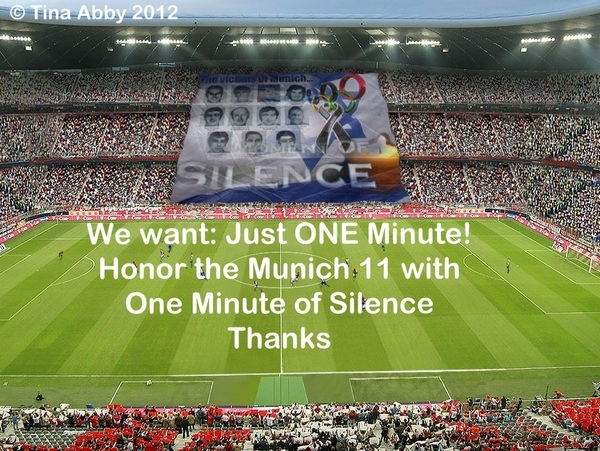 We want Just One Minute for the #Munich 11 #London