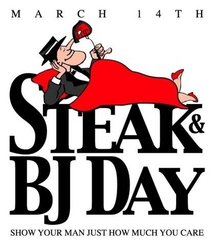 Can I possibly get bj #4 before 4pm today???? Hmmmm..... #steakandbjday
