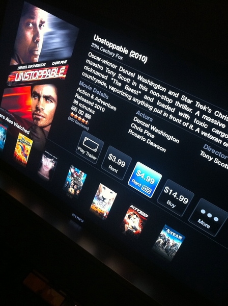 downloading #unstoppable #appleTv