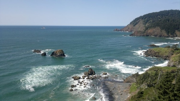 Heading to Indian Beach at Ecola Park, 6/5