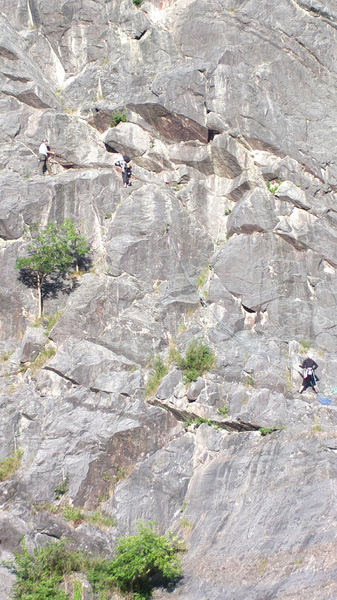 Climbers on the faces of the Avon Gorge in Bristol #Nokia808 #PureView