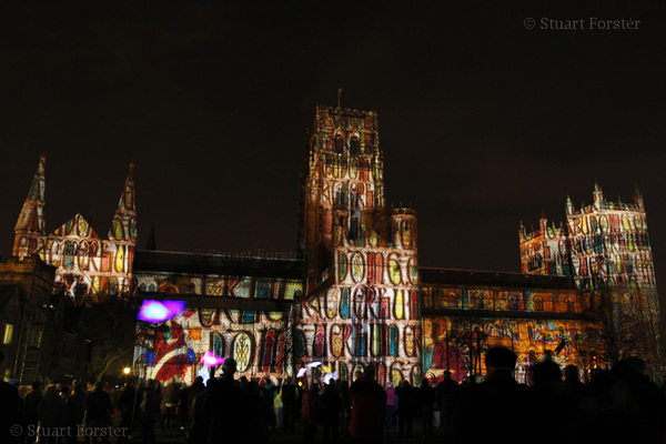 Durham Cathedral during the Lumiere Festival. #FriFotos #Durham #Night #UK