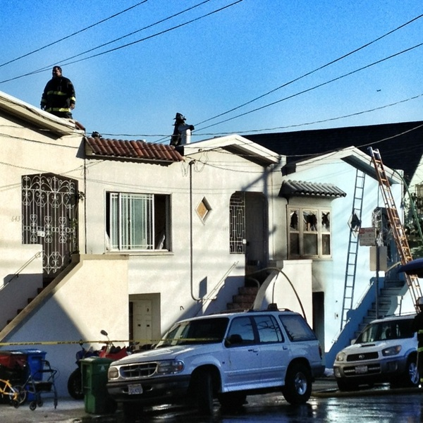 @Bernalwood no more visible flames or smoke. Houses on east side of Andover between Crescent & Richland