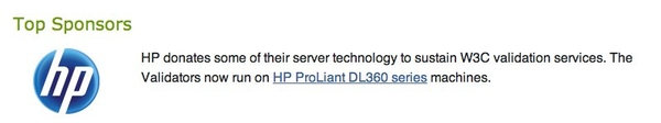 HP is a W3C sponsor
