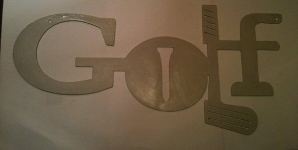 Got #Golf sign primed and ready to paint.