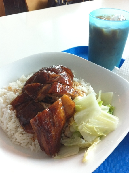 This roast duck rice lunch cost me only AU$4! Excuse me while I devour it ☛