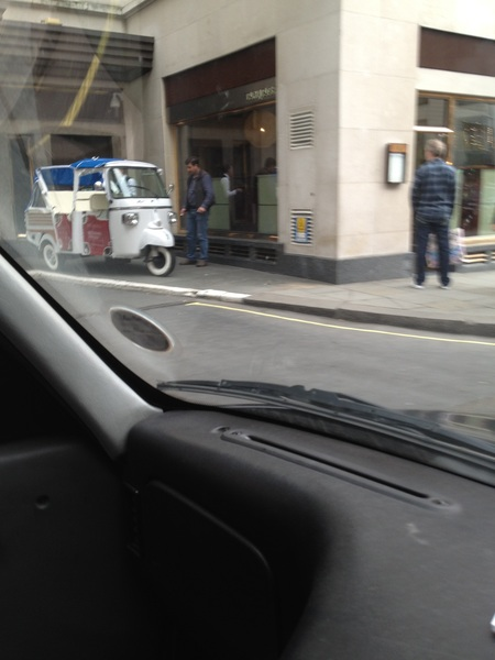 Rickshaws with engines now Conduit st