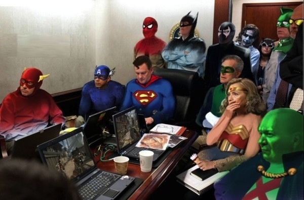 The REAL picture of the situation room in the White House during Ben Laden's assassination