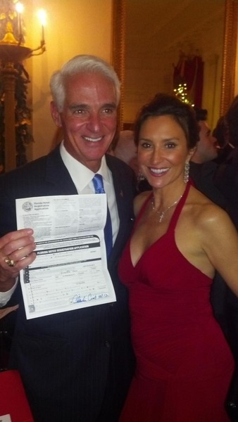 Charlie Crist and Mrs. Beard.