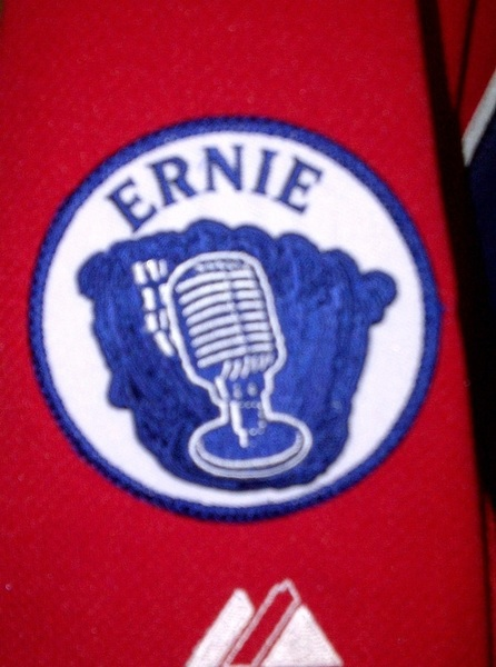 Photo of the Day - the patch the Braves will wear beginning today in honor of Ernie Johnson Sr. who passed away last week.