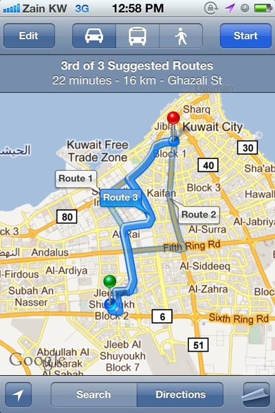 Kuwait Map Google Google Maps Now Can Make Route