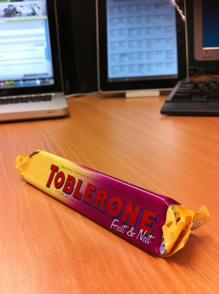I chose this because it has fruit and nuts & therefore healthy... #Toblerone ☛