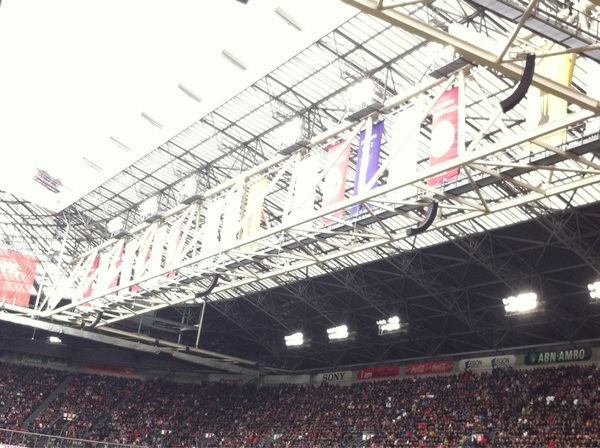 Binnenkort kan hier een nieuwe bannier bij! #Ajax #kampioenschap #eredivisie #afca #nummer31 #ajagra 