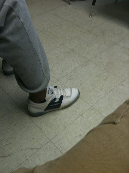 So I'm in class and this nigga jus walked in wit some solja reeboks on his feet lol then its the 2 for 89.99 so i kno he got another pair lol