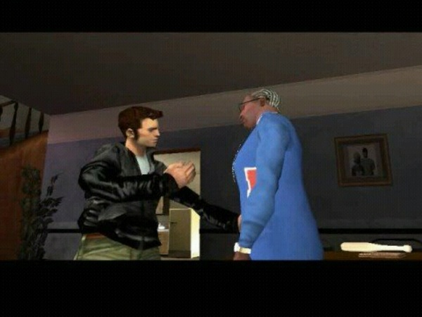 Um @BootyClapClap? How is the #GTA3 character gonna &quot;Talk&quot; to CJ? (@RockstarGames) #GTA #SanAndreas #Awesome #Mashup