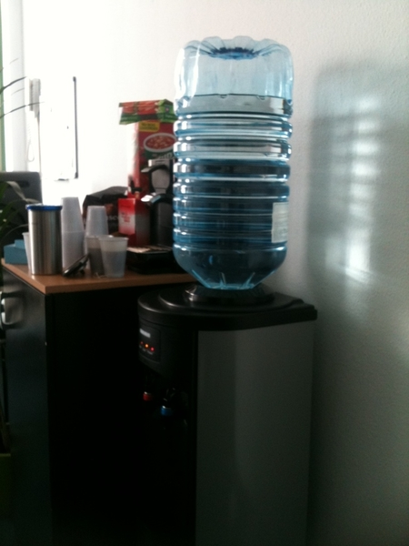 De watercooler is binnen!