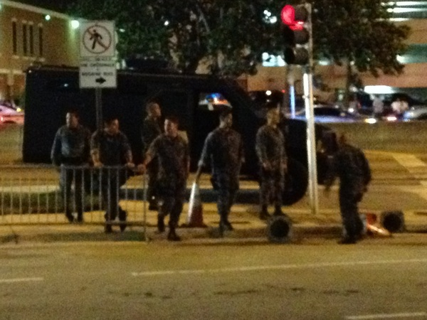 Only in Miami they bring out military in case of a riot! #HEAT