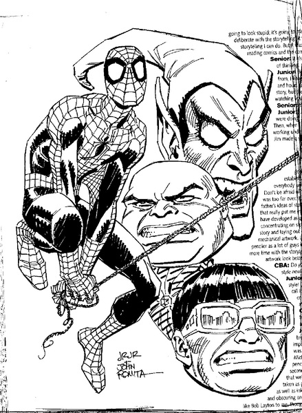 #SPIDEY & #FOES from #CBA magazine waaaaaayyy back.
