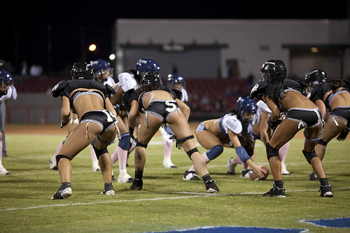 an #LFL game outside with some #winning #sportsbooty