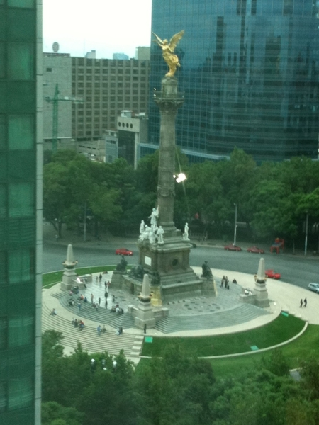 The famous Angel Statue on Paseo de la Reforma, from my hotel room