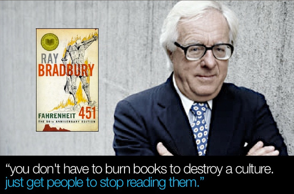 Ray Bradbury: Destroy a culture