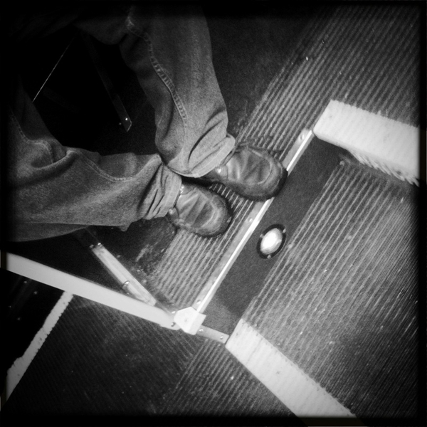 Some Guy on the bus is following me. CIA shoes