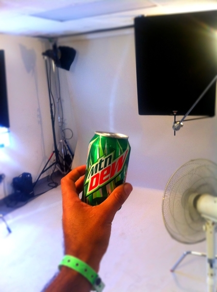 Crushing @mountaindew on set I love @pepsi shoots!