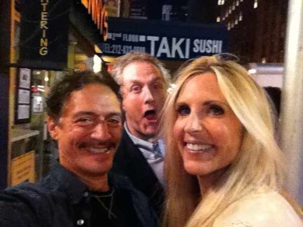 Andrew Breitbart, Ann Coulter and me. Draaankin.