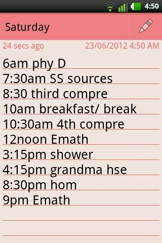 Heheheh new schedule xP
