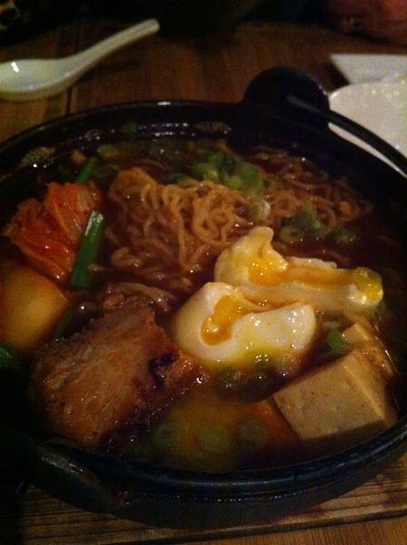 Amari Chicago: this place has great noodle dishes: kimchi ramen w pork belly&amp;egg&amp;tofu