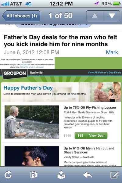This is an odd header groupon. I am sure there are some dads that were moms.