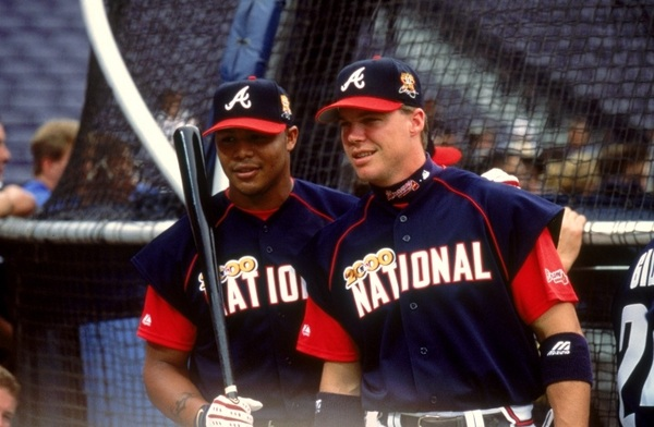 Here's a photo of Chipper and Andrew from the 2000 All-Star Game. #happybirthdaychipper