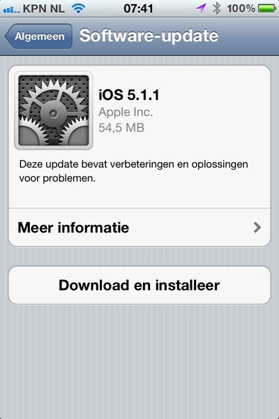 Apple iOS 5.1.1 - even downloaden, mensen!
