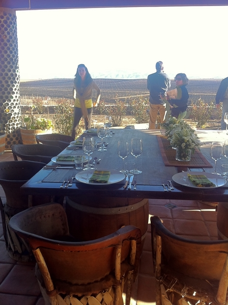 Valle de Ojos Negros: lunch w Hussong family @ their winery San Rafael overlooking vineyards.