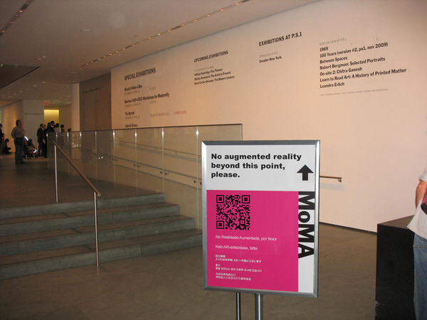 Who owns the virtual space, inside a physical space? Check #NYC #MoMA's recent anti Augmented Reality policy #AR