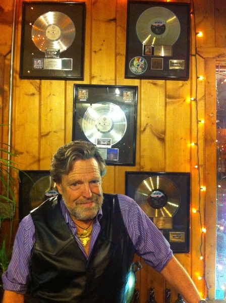 I let 'em keep some of my gold records on the wall here in #RockRabbit. Local boy makes good. Sorta.