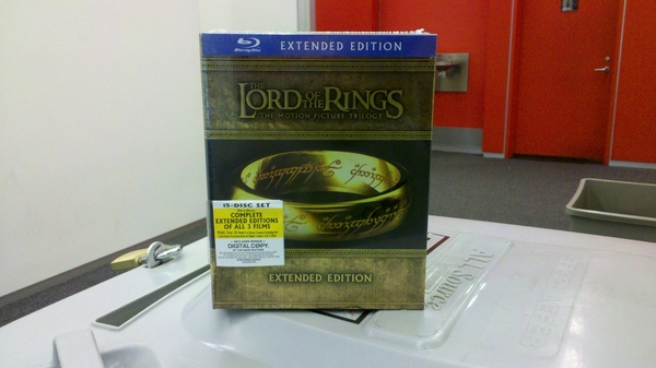 Remember how I said I would NEVER buy the LOTR BluRay discs. I'm so ashamed...