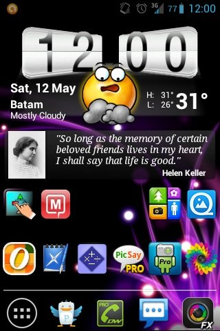 Time 2 show my #Android ICS #HTC new homescreen.Luv d weather skin.