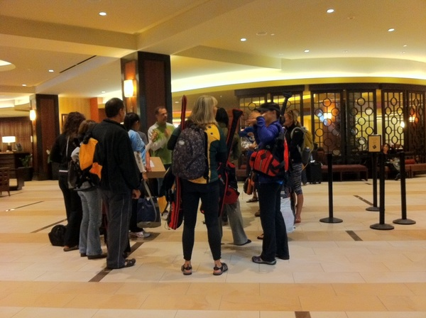 Is it an Oar or Paddle convention at San Francisco Marriott Marque Today?
