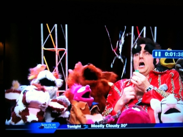 If your morning news doesn't have puppets and Neil Diamond impersonators, they're just not trying very hard.