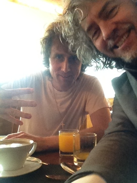 Hangin with Luke from The Rapture.. Talking about the evils of caffeine.. But I love it!!