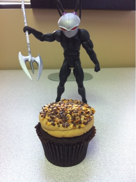 Black Manta and the Chocolate Peanut Butter Cupcake