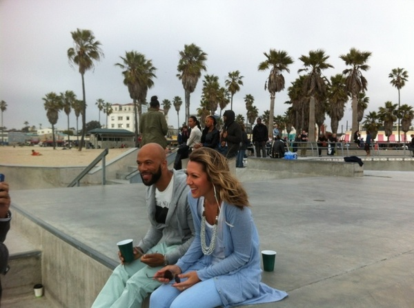 Having fun shooting with  @common on the beach in Venice. 